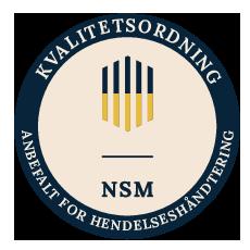 NSM Kvalitetsordning - Anbefalt for hendelseshåndtering